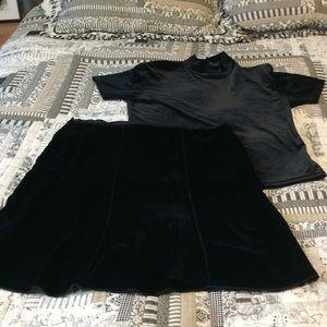 Velvet skirt set XL & 14